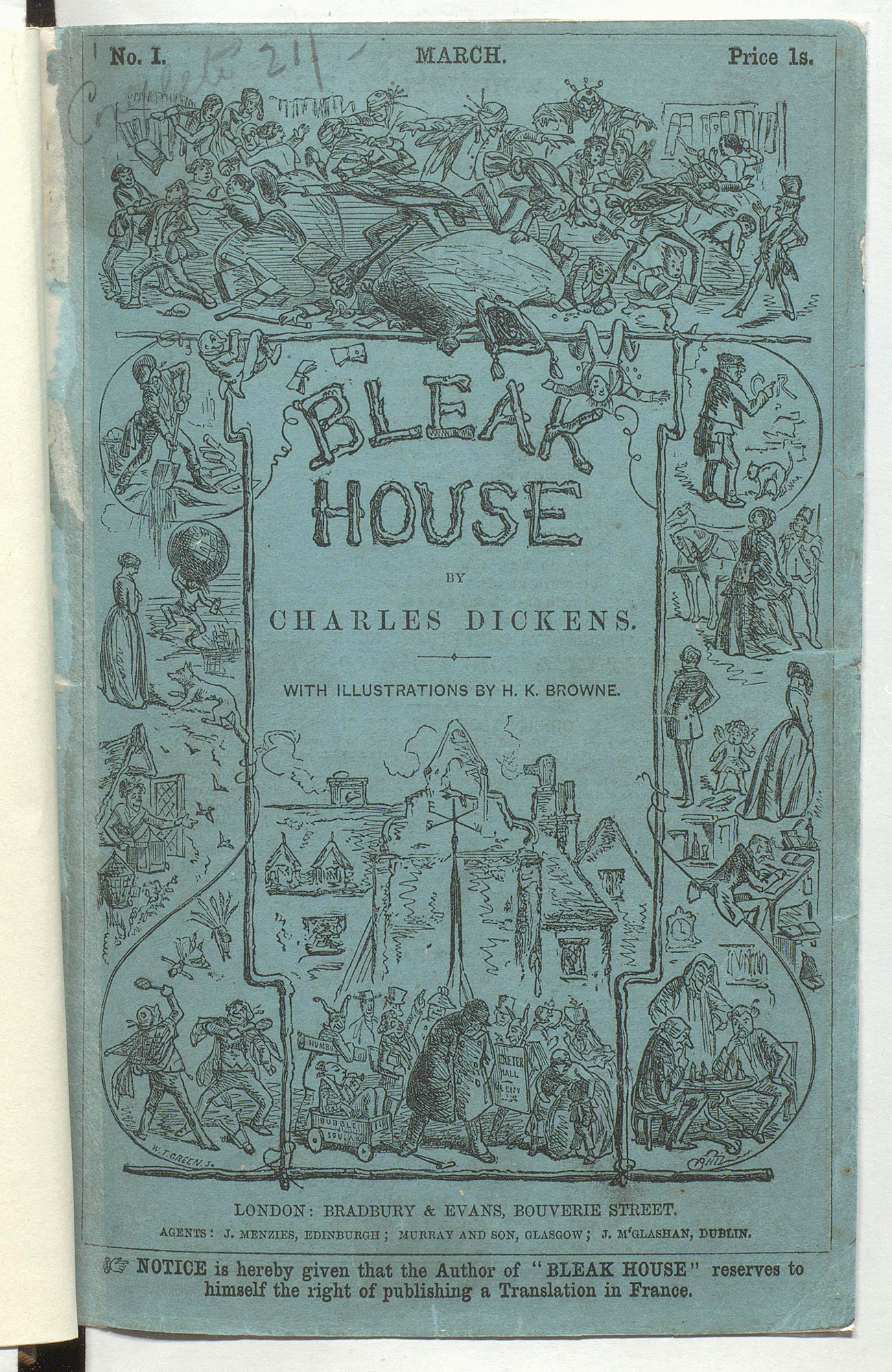 Charles Dickens's Bleak House in its original parts
