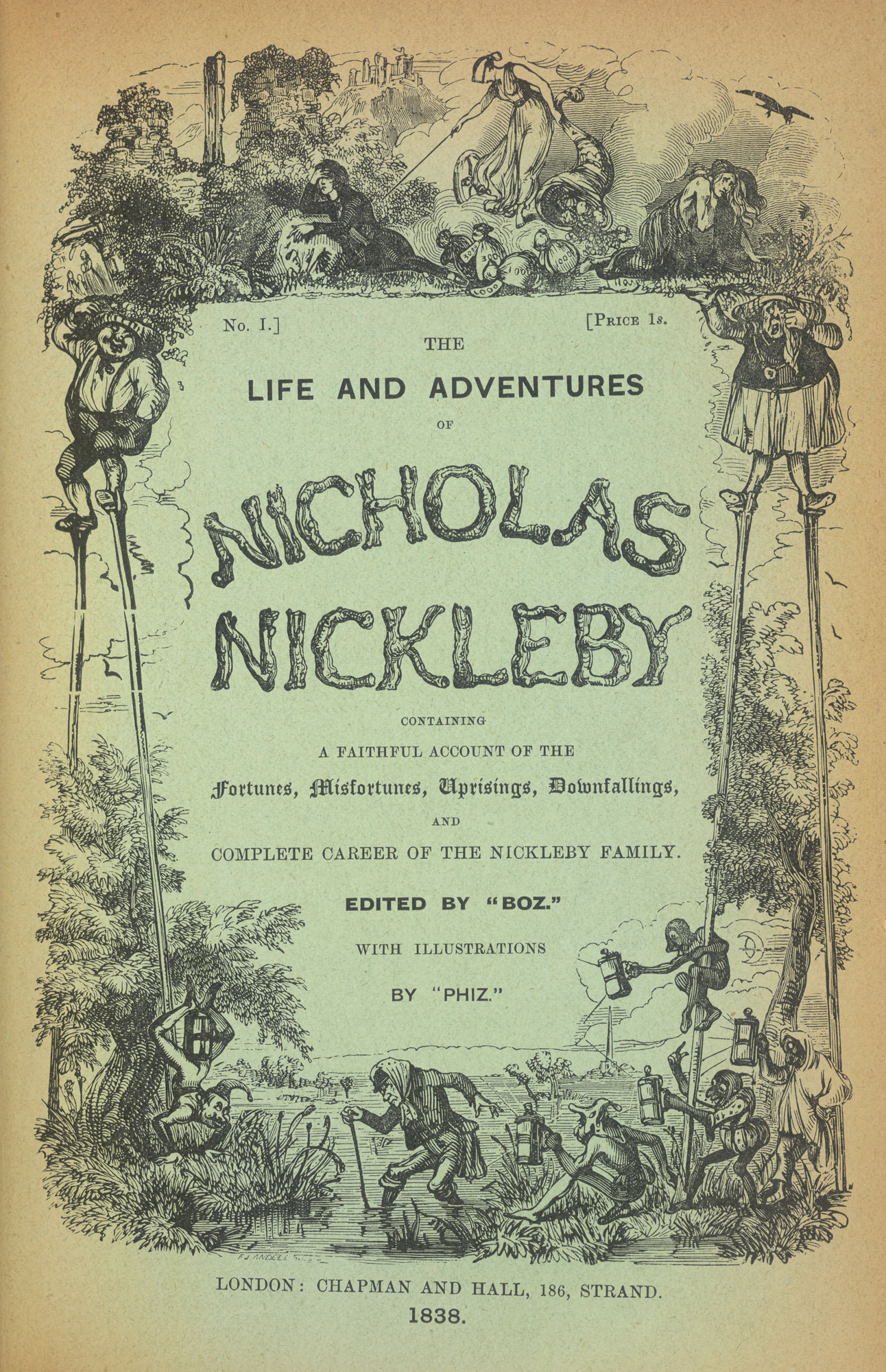 Front cover for Charles Dickens's Nicholas Nickleby
