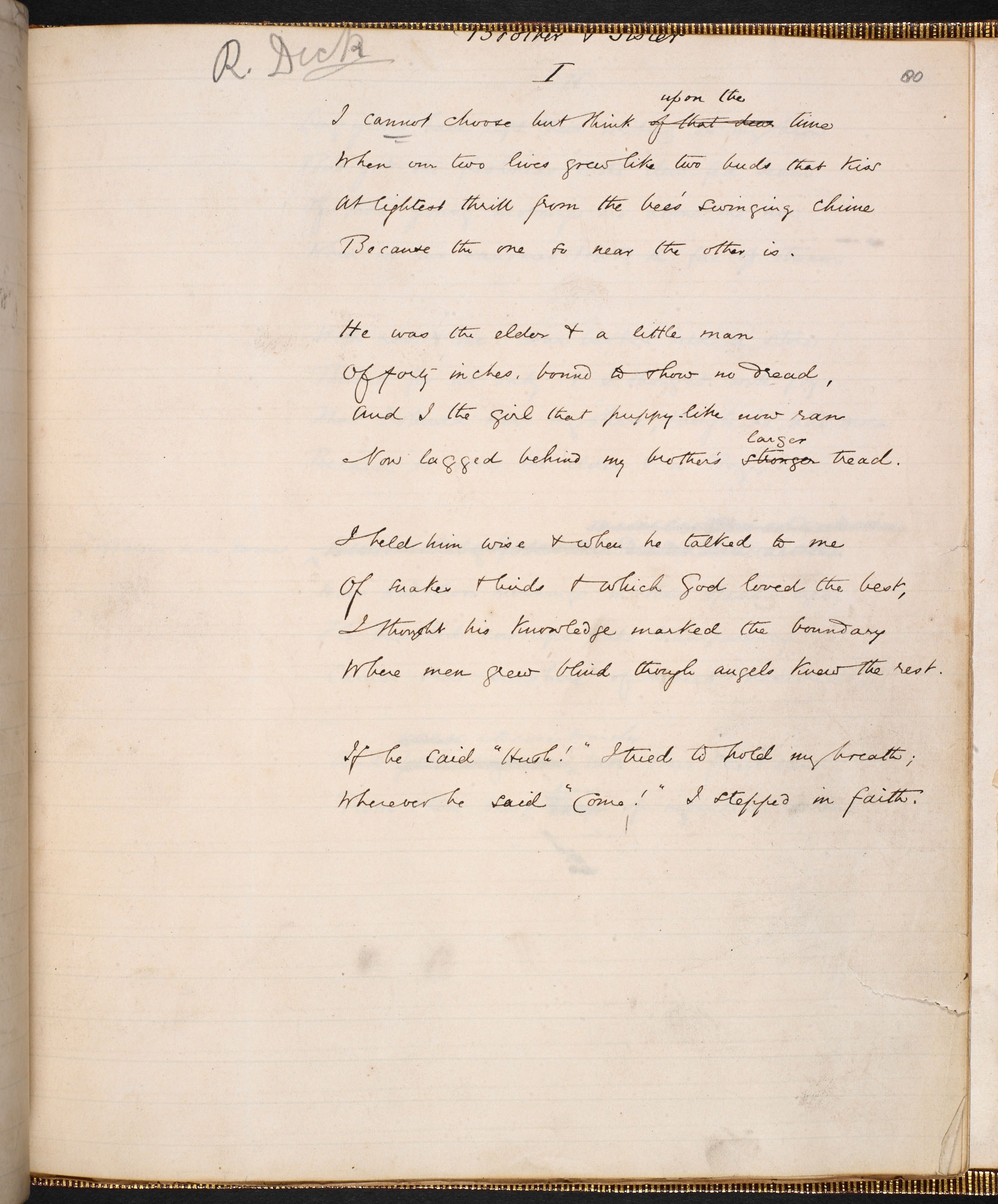 Brother and Sister: sonnet sequence by George Eliot - The