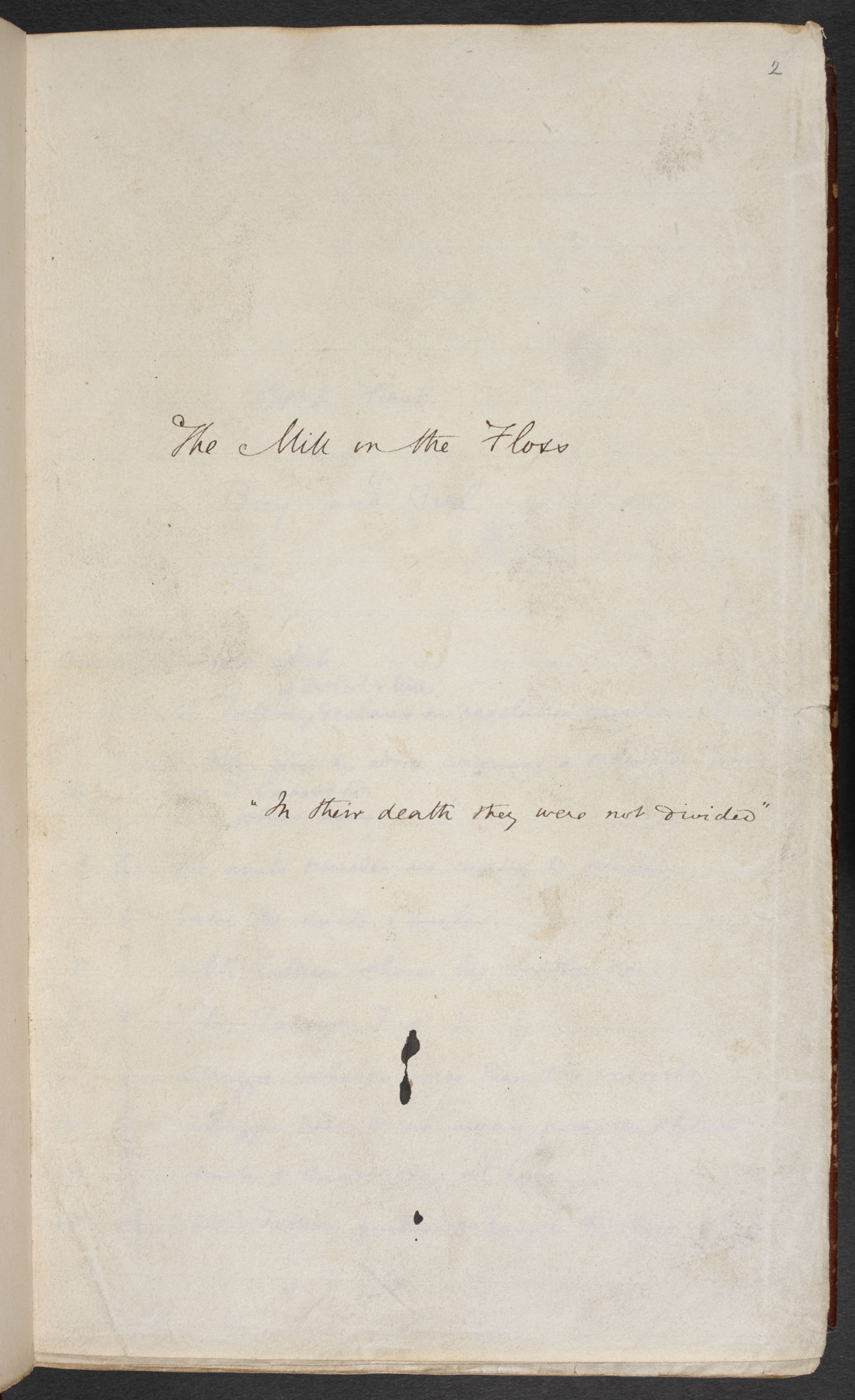 Manuscript of The Mill on the Floss by George Eliot