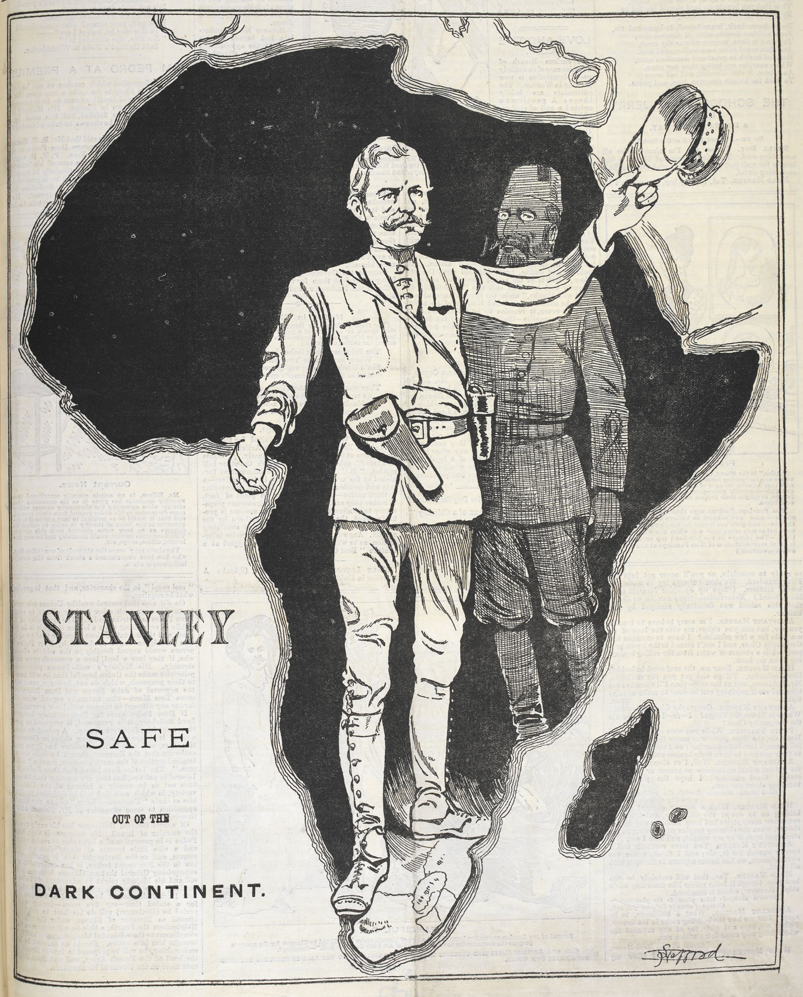 Illustration of Victorian explorer Henry Morton Stanley