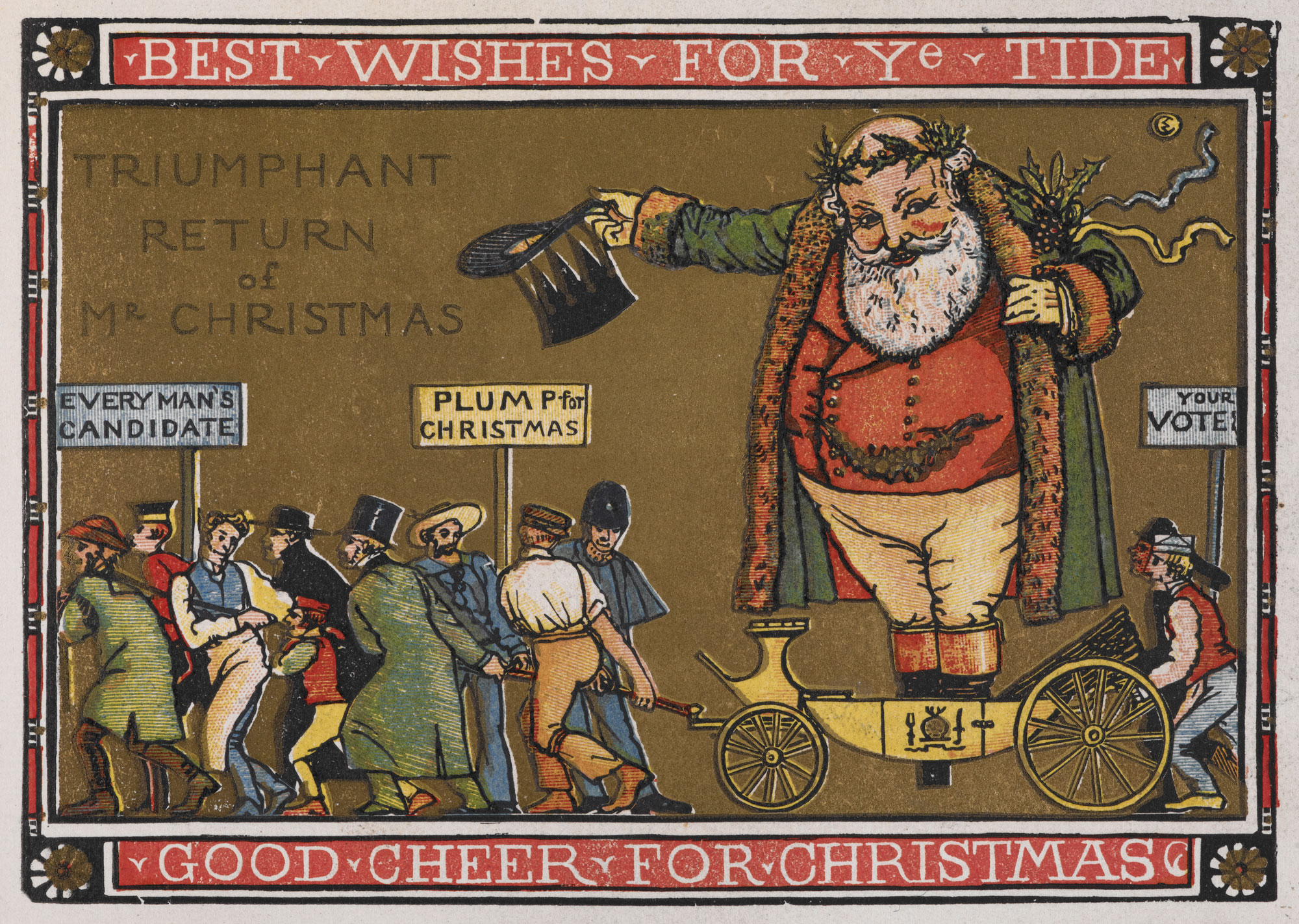 Father Christmas illustration from The Graphic newspaper