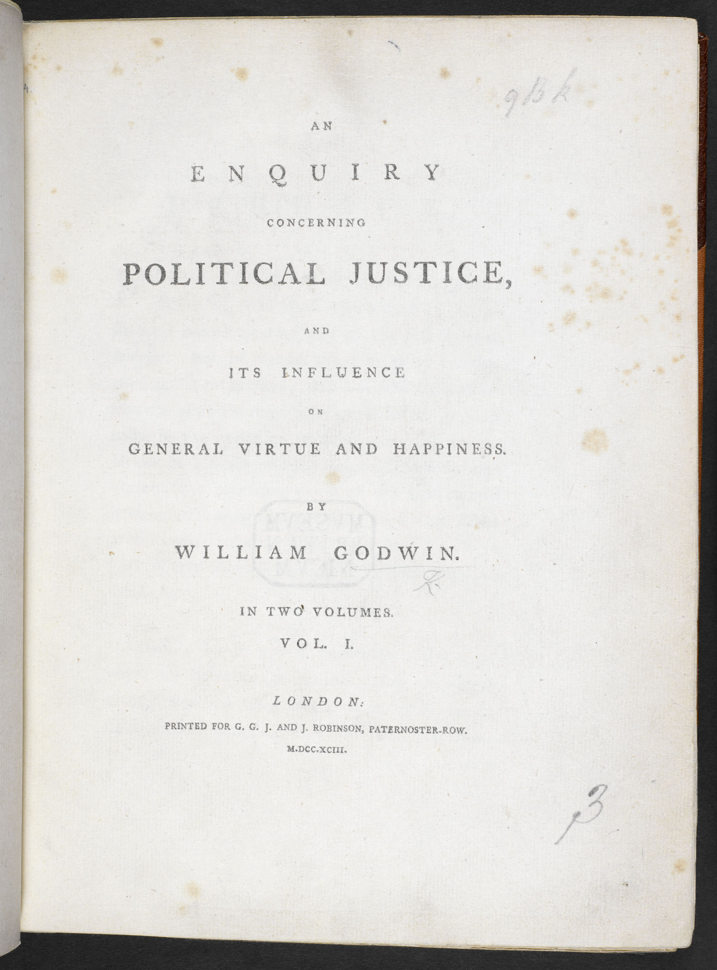 An Enquiry concerning Political Justice