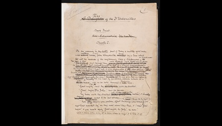 Manuscript of the first and last chapter of Tess of the d'Urbervilles by Thomas Hardy