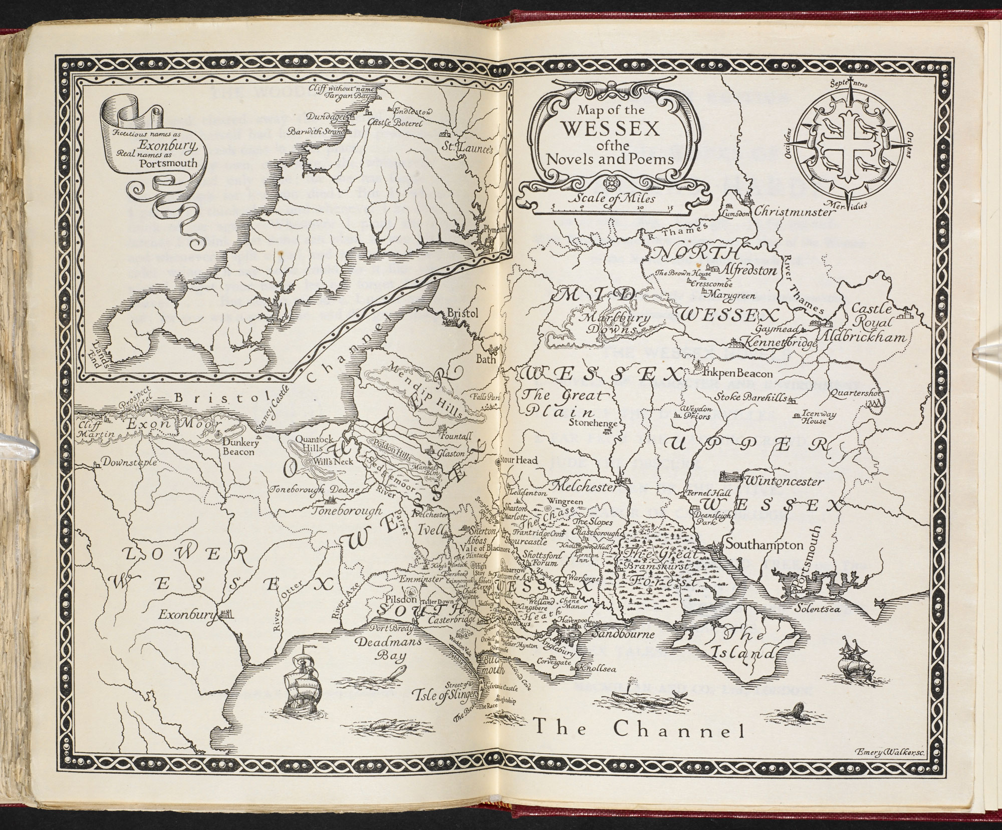 Map Of Old England Wessex.Map Of Thomas Hardy S Wessex The British Library