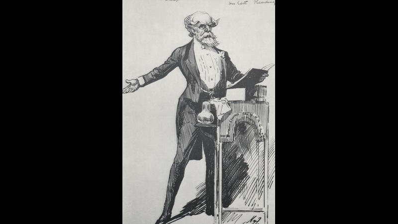 Dickens's Public Reading by Harry Furniss