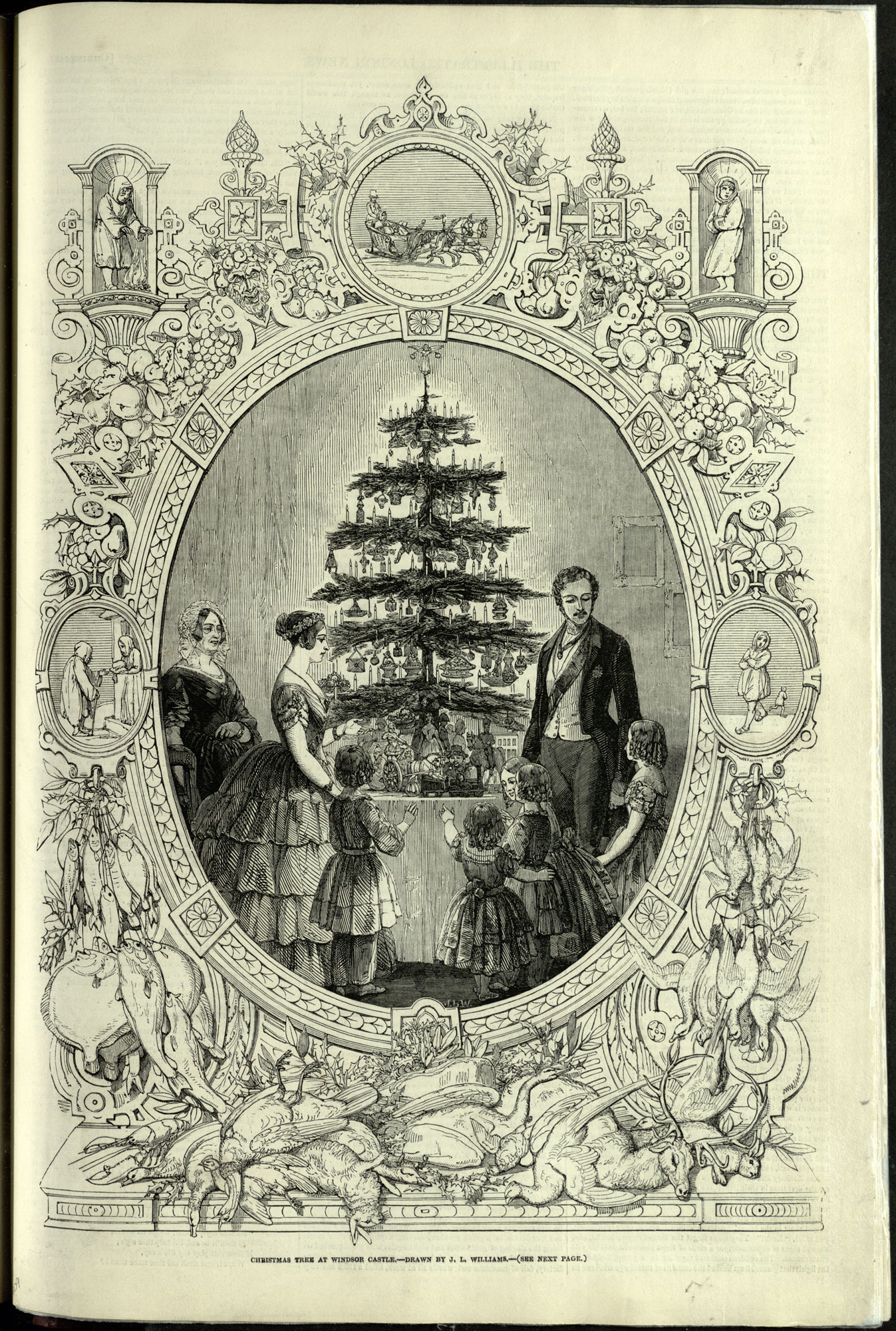 'Christmas Tree at Windsor Castle', from the Christmas Supplement to the Illustrated London News. '