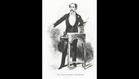'Mr Charles Dickens's Last Reading' from The Illustrated London News
