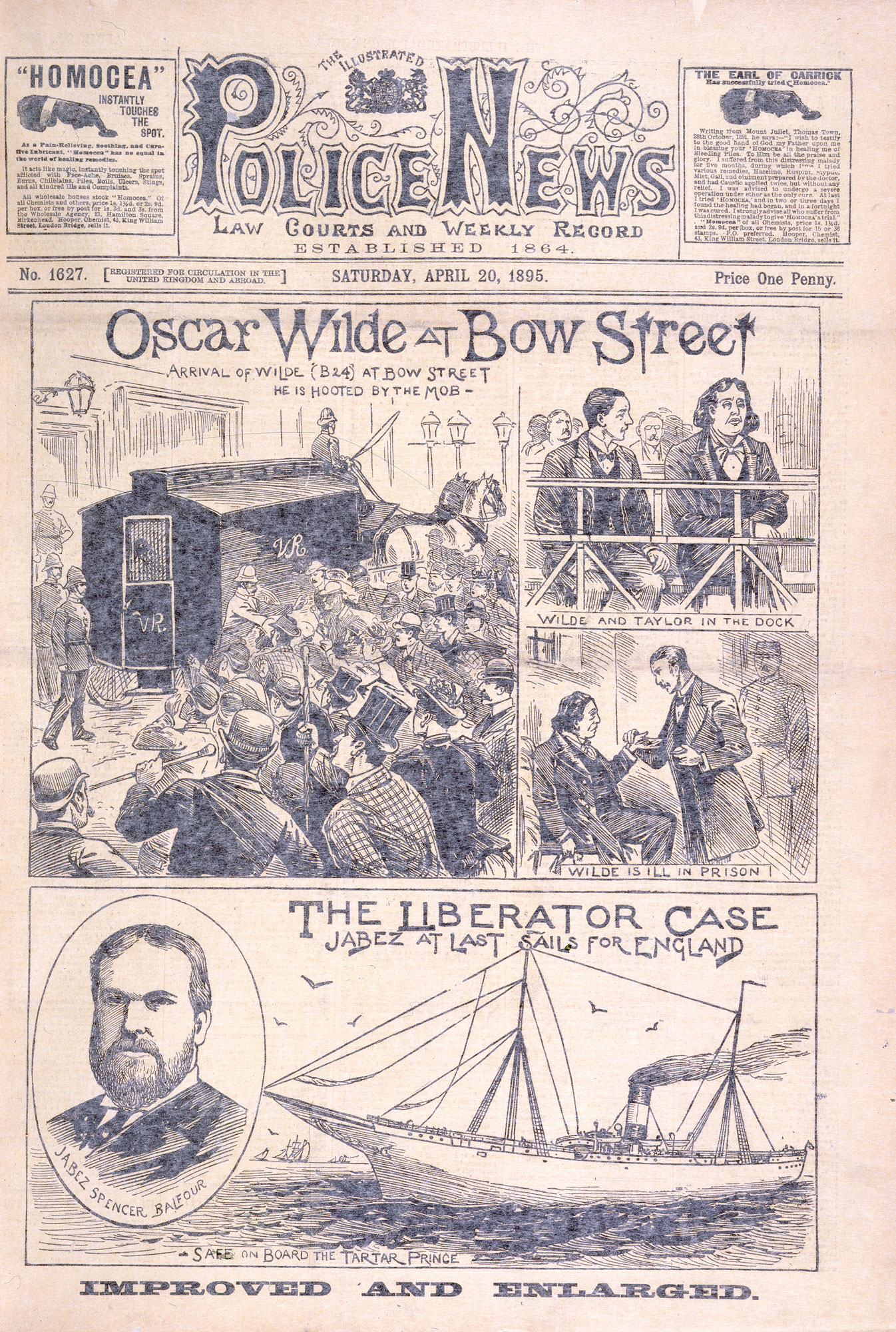 'Oscar Wilde at Bow Street': newspaper coverage of the Oscar Wilde trial