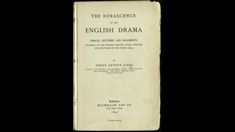 Essays and lectures on English drama