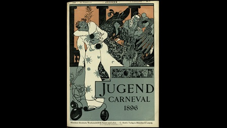 Front covers and illustrations from Jugend, a German art magazine