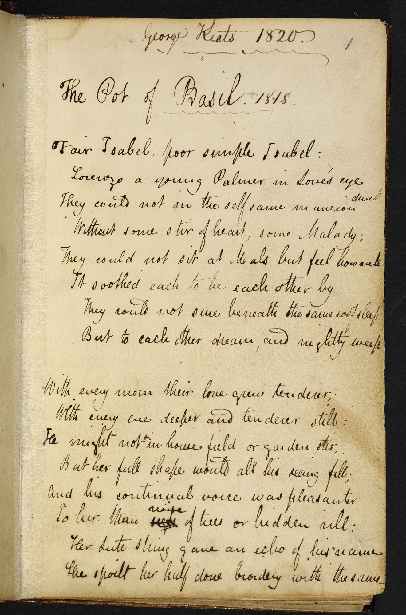 Collection of manuscript poems by John Keats, including the Odes and 'To Autumn'
