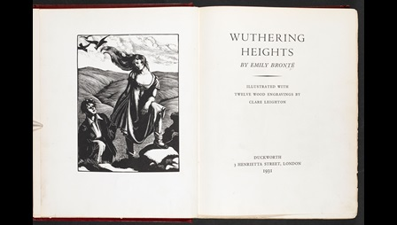 Illustrations to Wuthering Heights by Clare Leighton