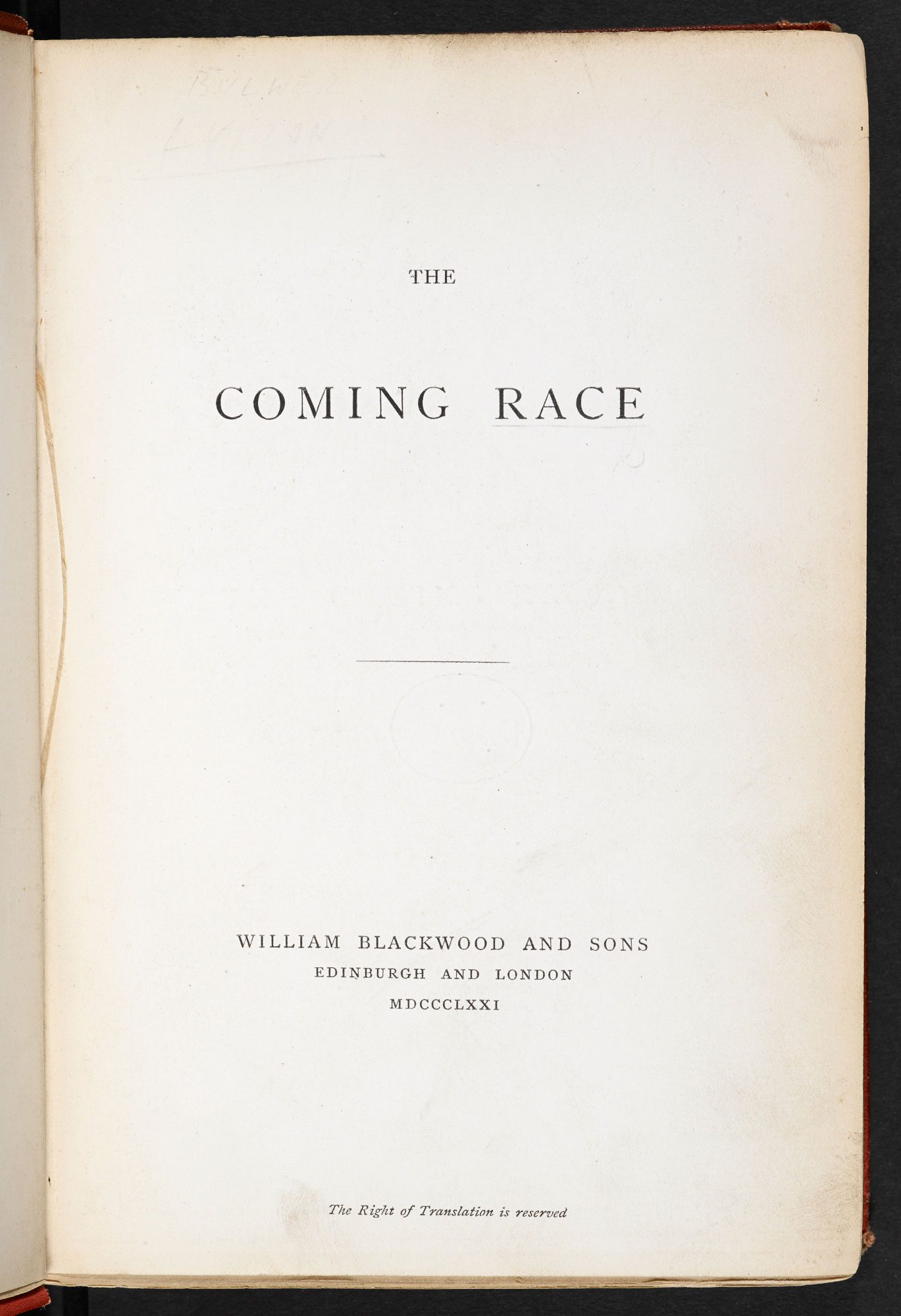 The Coming Race, a science fiction novel