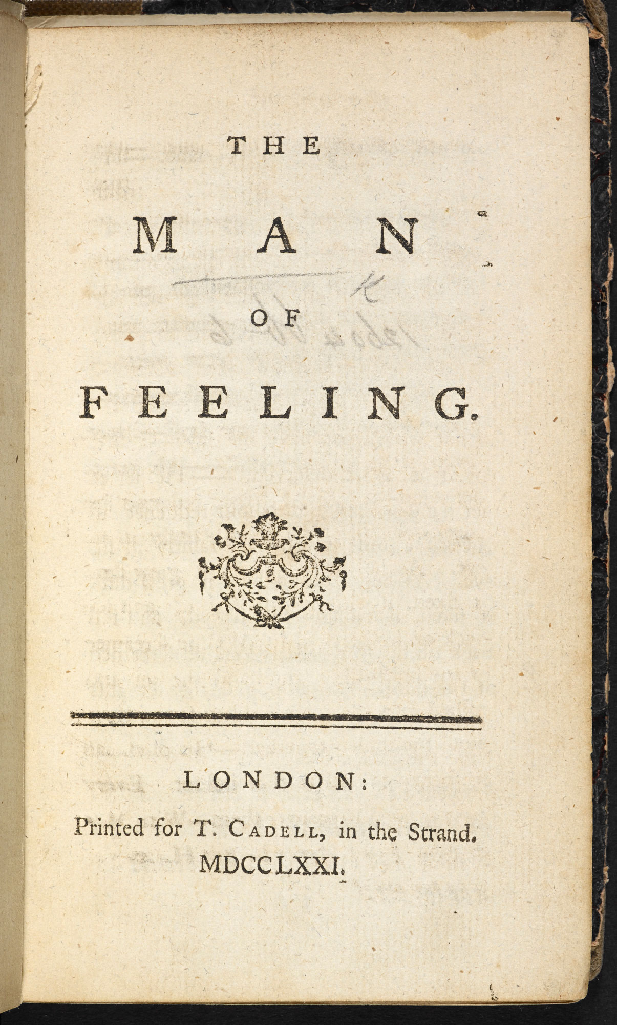 The Man of Feeling, a sentimental novel
