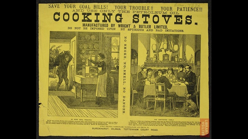 The middle class home, as portrayed in advert for Petroleum oil cooking stoves by Wright & Butler Limited