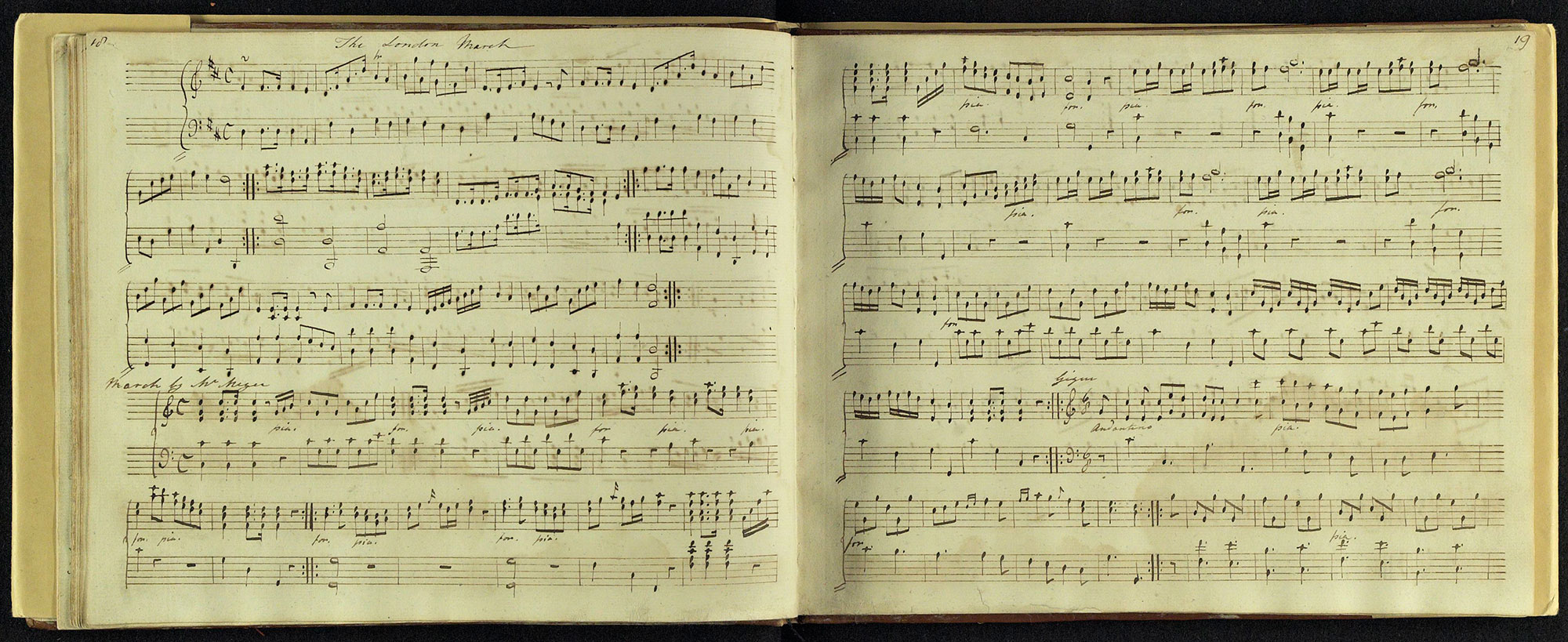Manuscript music copied by Jane Austen