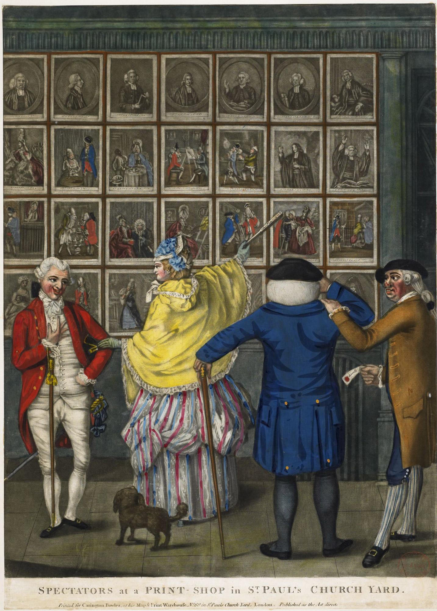 Spectators at a Print-Shop in St. Paul's Church Yard, London
