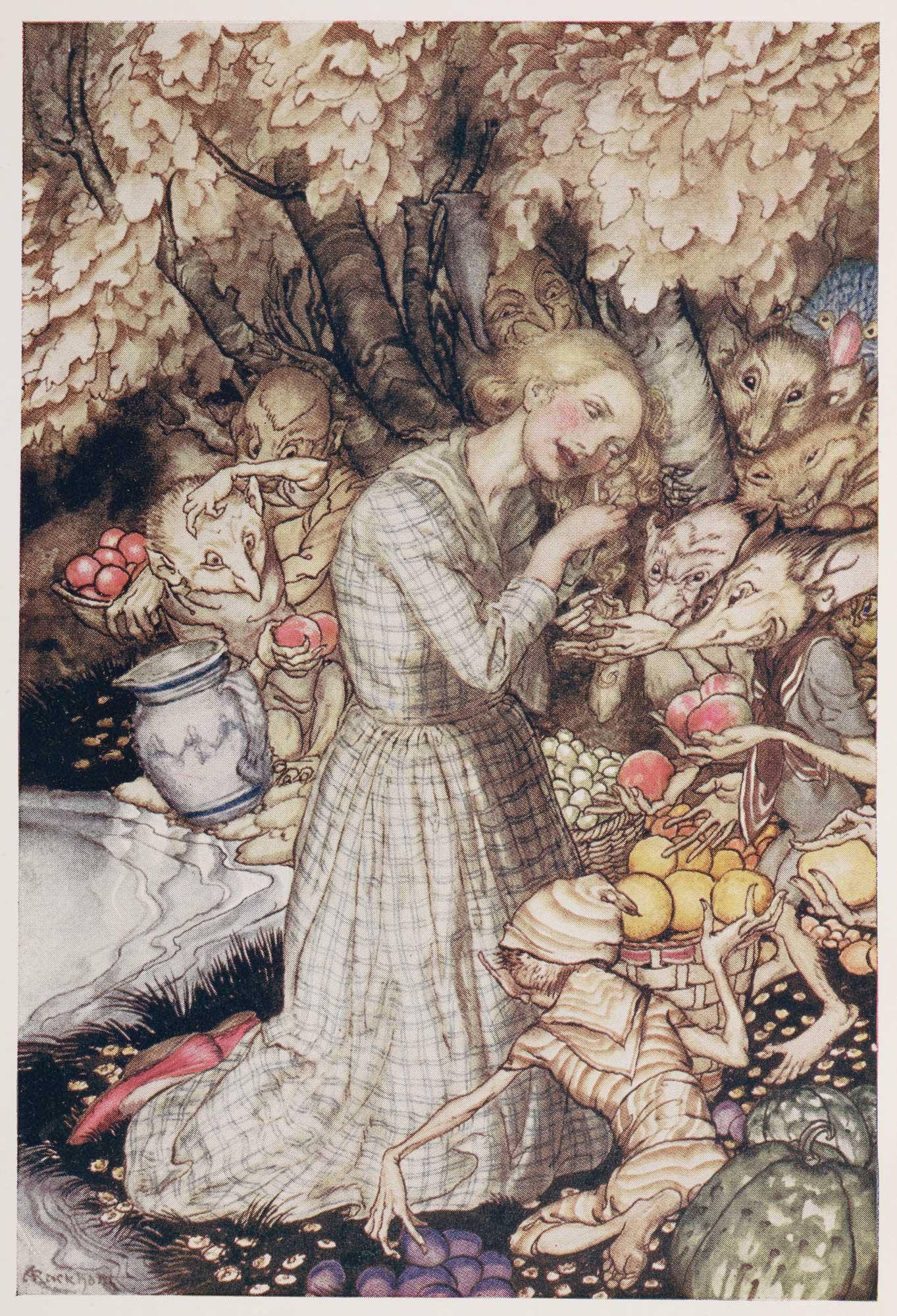 Goblin Market illustrated by Arthur Rackham