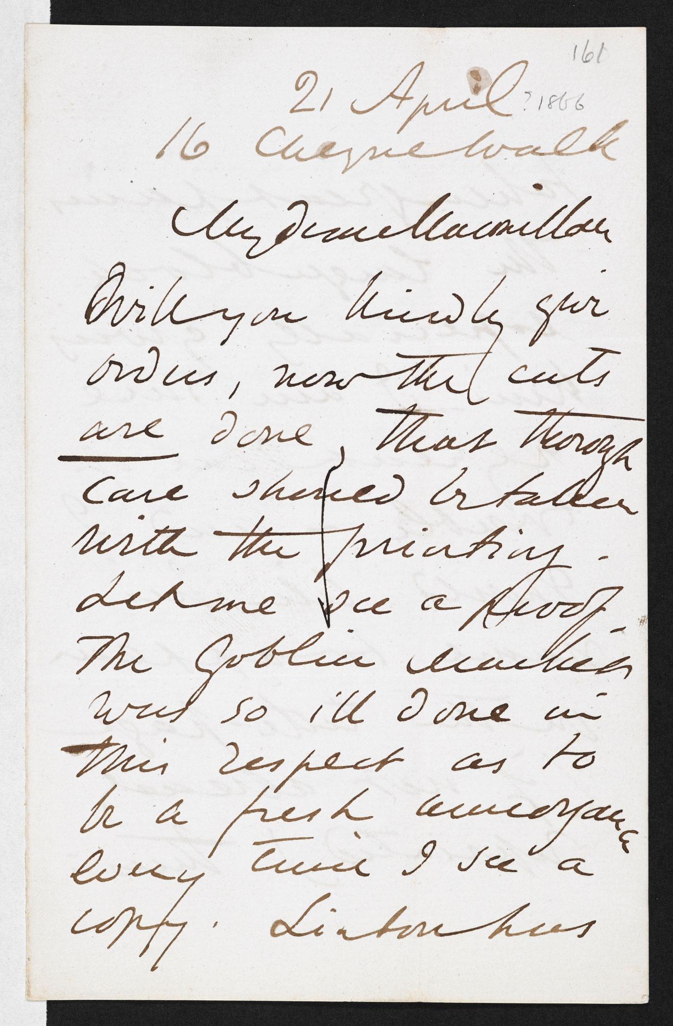 letters between christina rossetti dante gabriel rossetti and alexander macmillan 1860 94