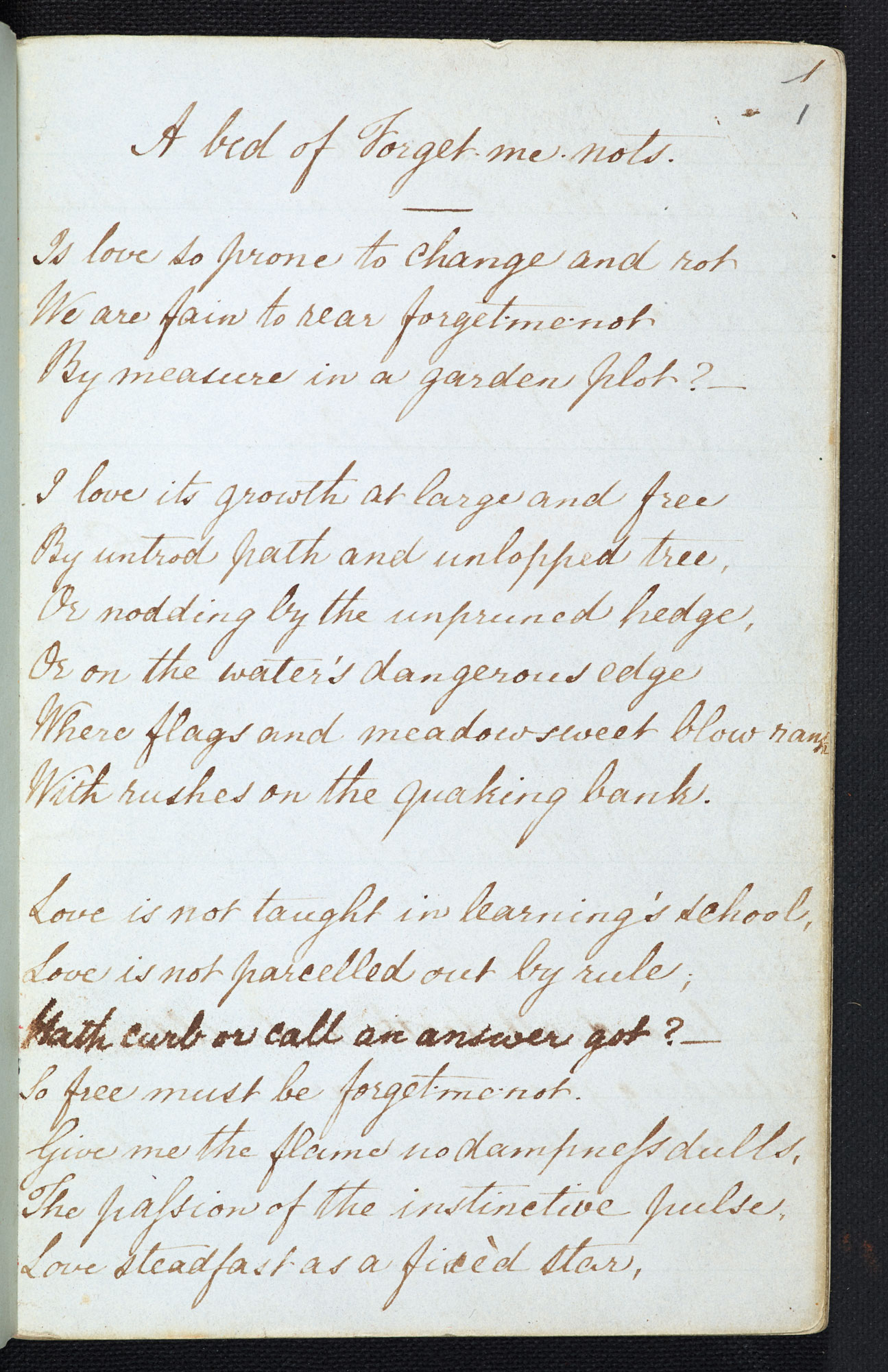 Notebook of Christina Rossetti (one of six), 17 June-13 December 1856