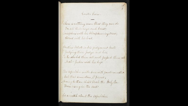 Notebook of Christina Rossetti (four of six), 23 March 1861-24 March 1863