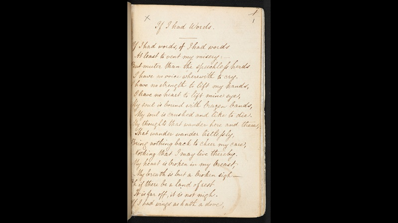 Notebook of Christina Rossetti (six of six), 3 September 1864-11 June 1866
