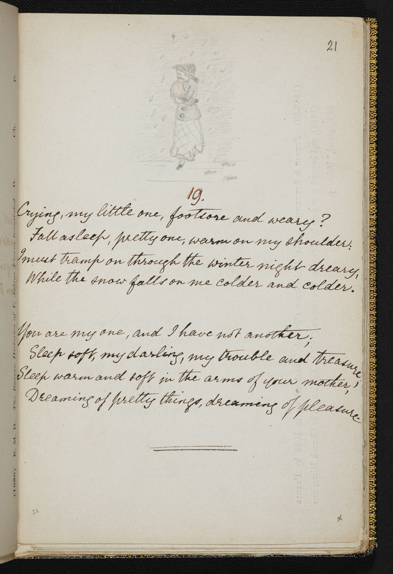 manuscript of christina rossettis book of childrens verse sing song with rossettis own pencil drawings arthur hughes the published books illustrator