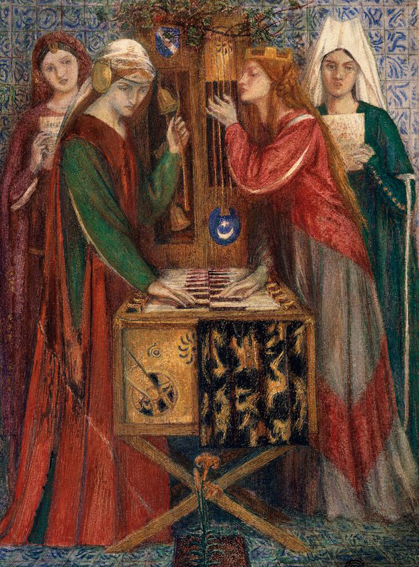 The Blue Closet by Dante Gabriel Rossetti