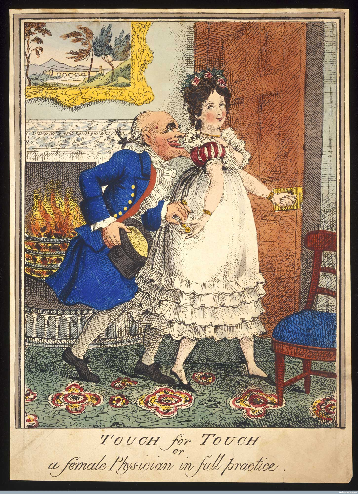 Touch For Touch Satirical Print Depicting A Prostitute The