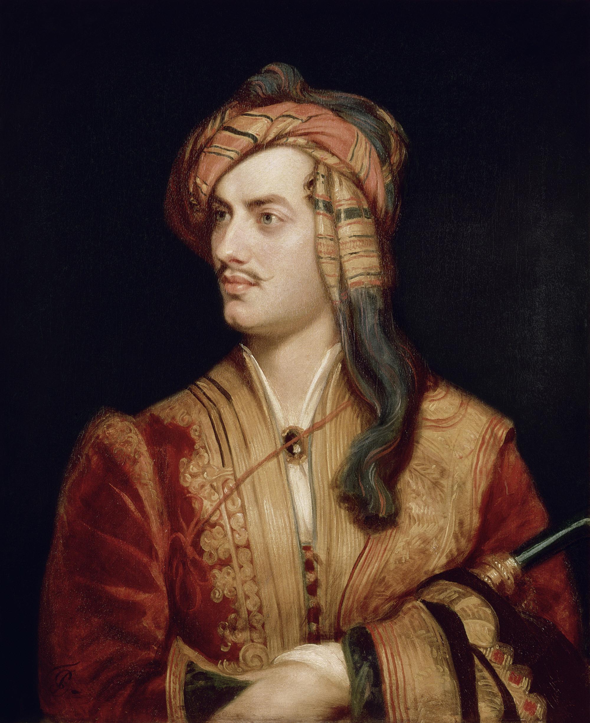 Portrait of Lord Byron in Albanian Dress
