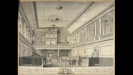 A view of the Foundling Hospital Chapel