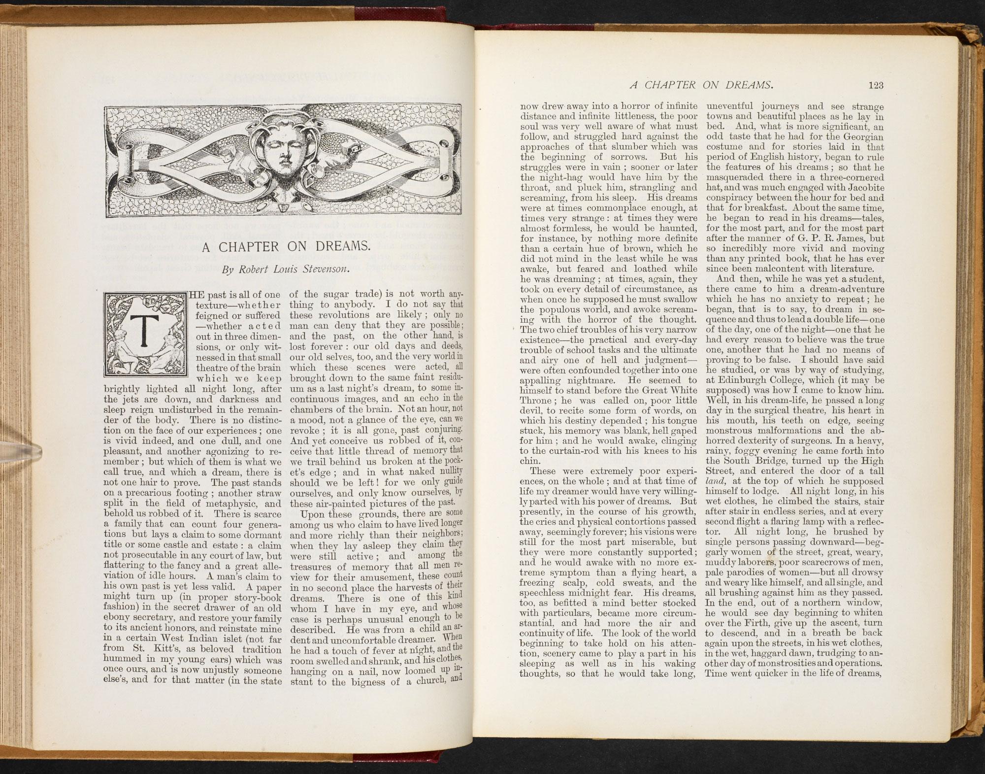 'A Chapter on Dreams' by Robert Louis Stevenson