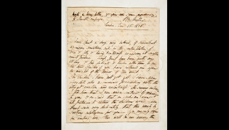 Letters concerning the relationship between P B Shelley and Mary Godwin, and the death of Shelley's first wife