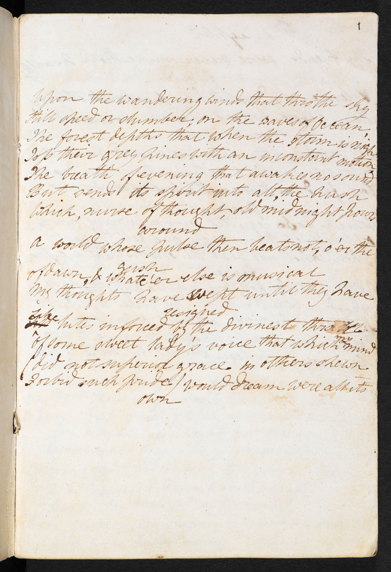 Manuscript of 'Mont Blanc' and other poems by P B Shelley