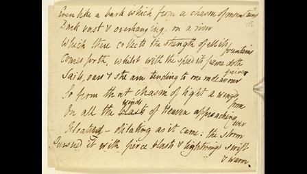 Manuscript of 'Laon and Cythna' by P B Shelley