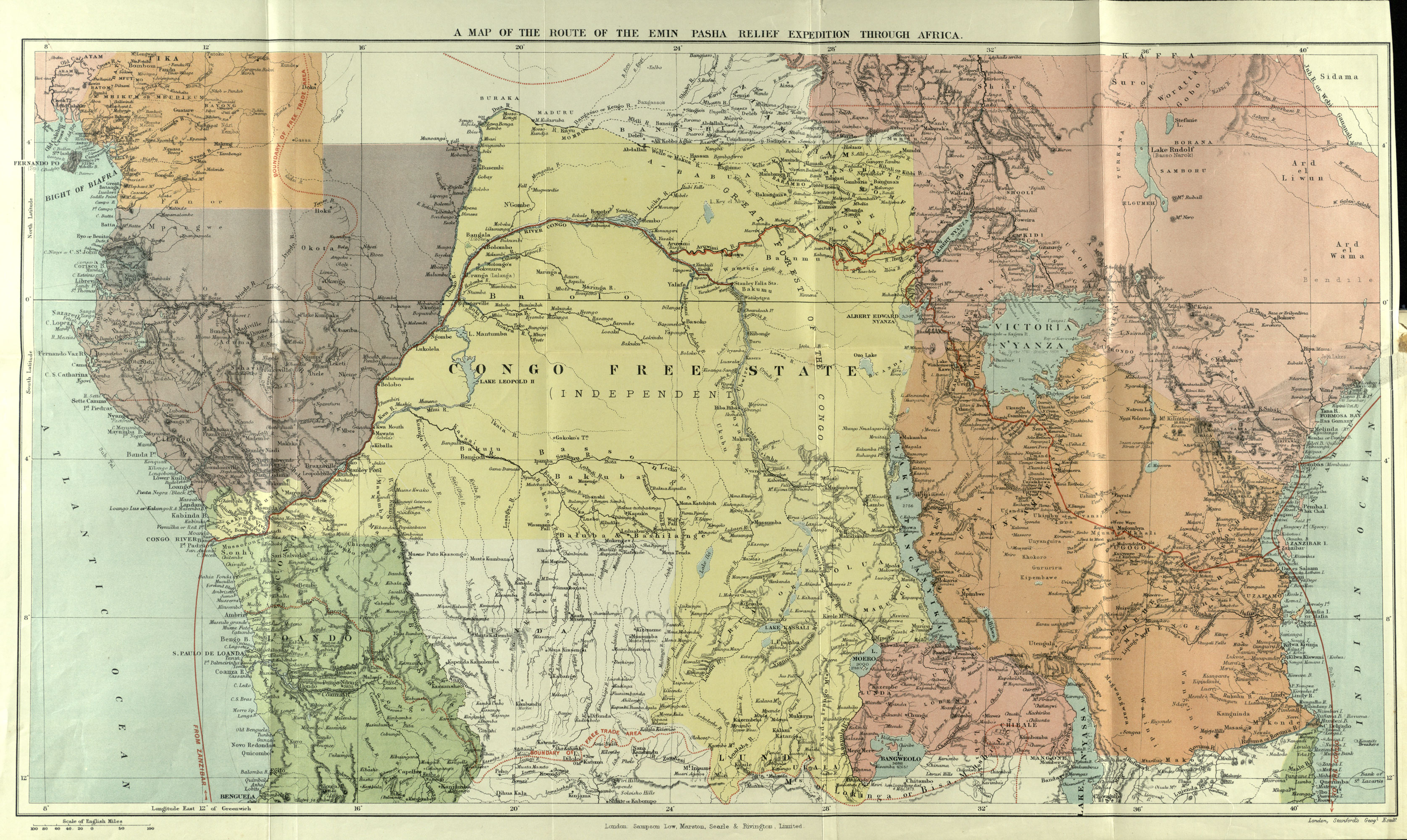 Map Of Africa During Colonization.The First World War In East Africa The British Library