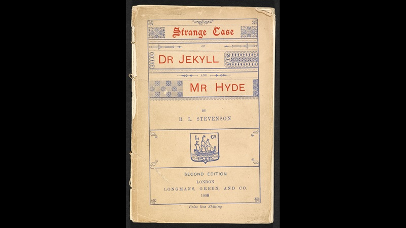 Front cover to the second edition of Strange Case of Dr Jekyll and Mr Hyde