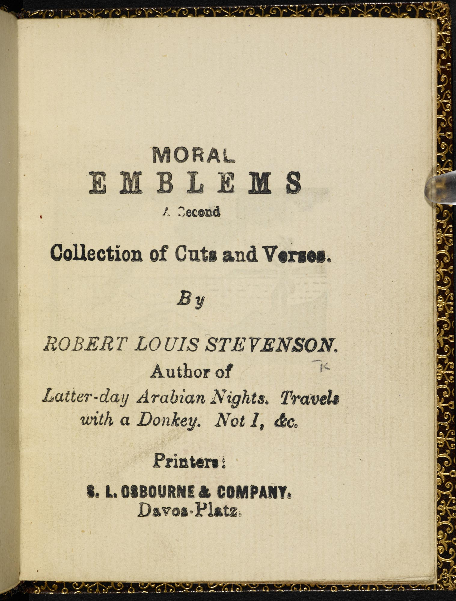 Moral Emblems by Robert Louis Stevenson