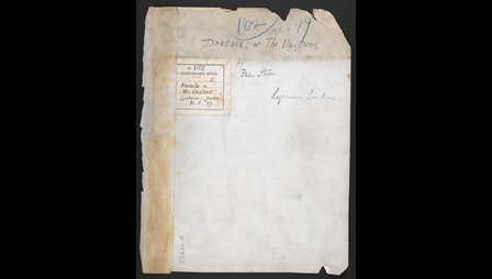 Manuscript of Bram Stoker's Dracula playscript