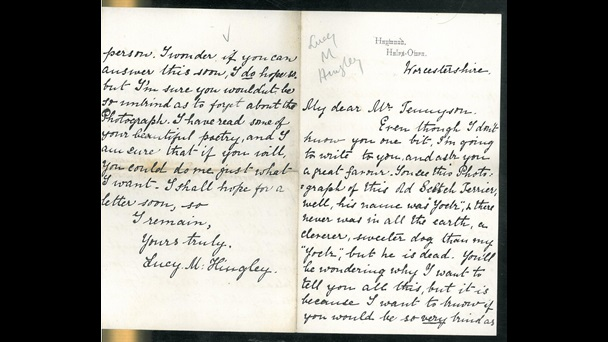 Letter to Alfred Tennyson from a fan