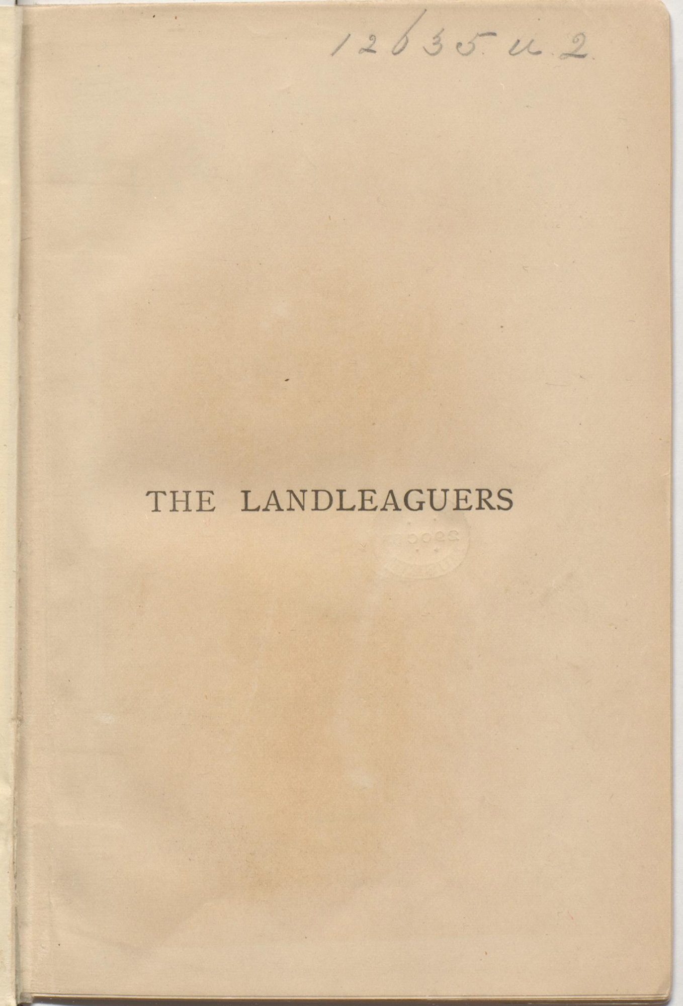 The Landleaguers by Trollope
