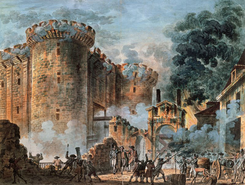 Painting of the storming of the Bastille, 1789