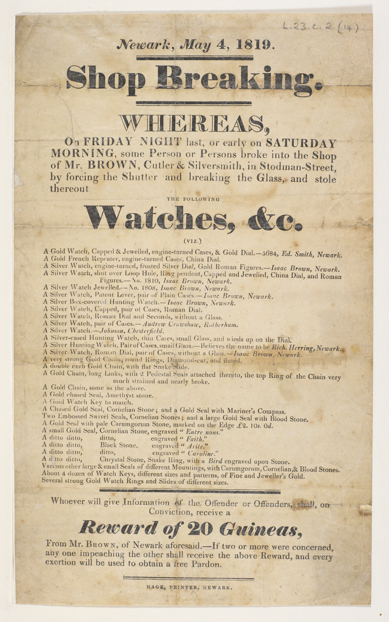 A broadside on riots in Newark