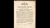 Proclamation of the birth of Prince Leopold, a broadside