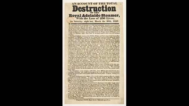 Account of the Total Destruction of the Royal Adelaide, a broadside
