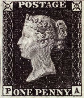 The world's first postage stamp