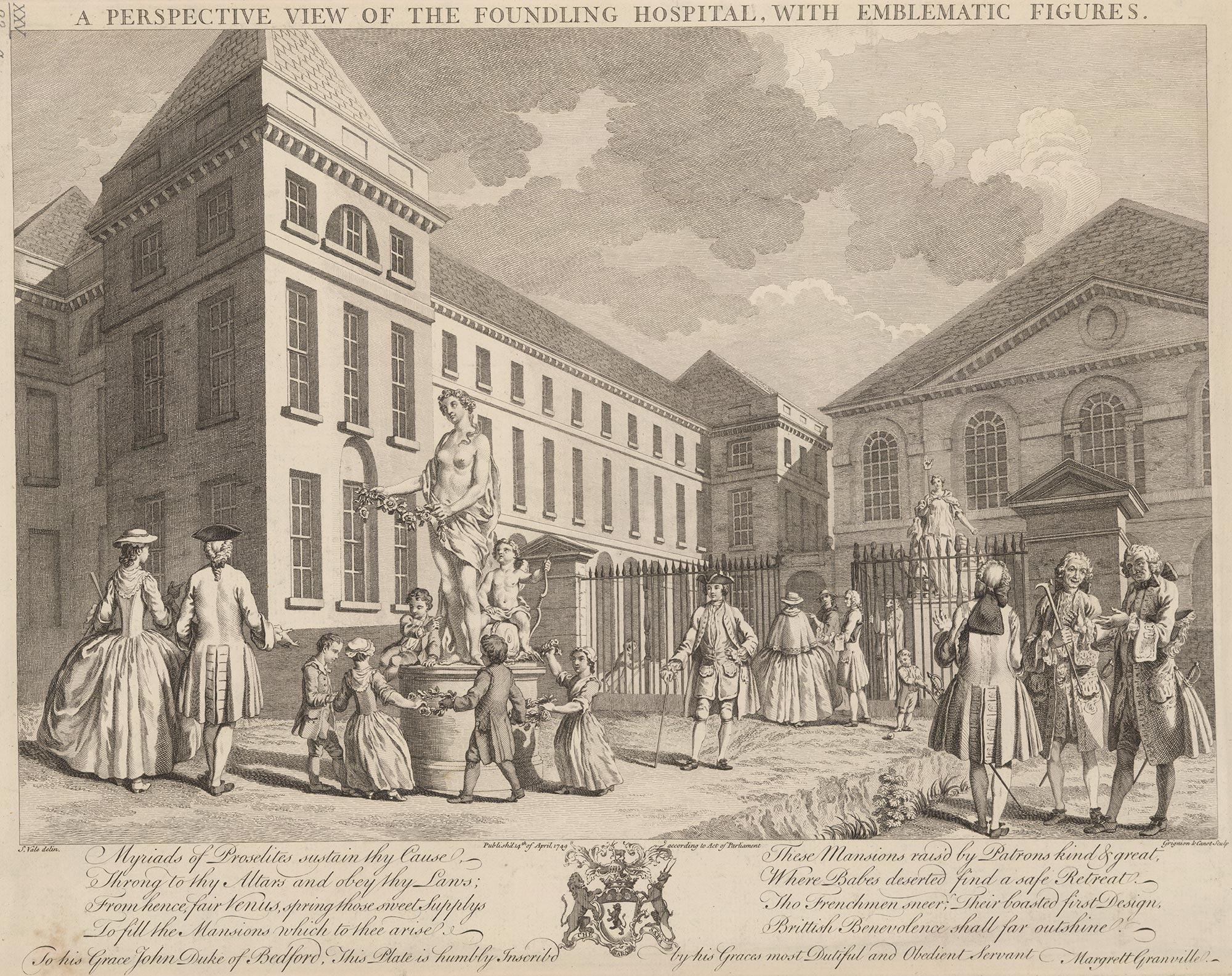 A view of the Foundling Hospital