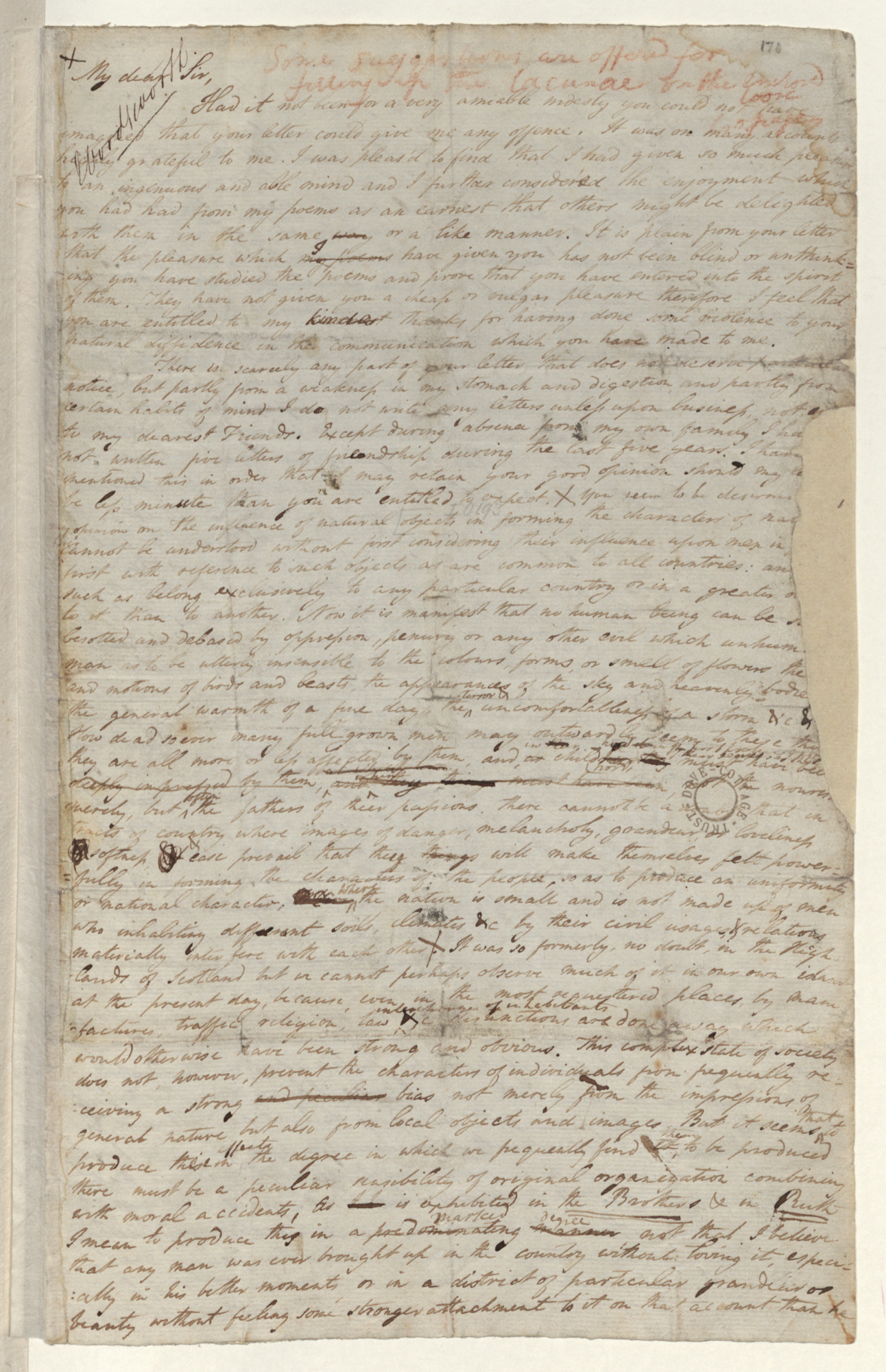 Letter from William Wordsworth to John Wilson, 1802