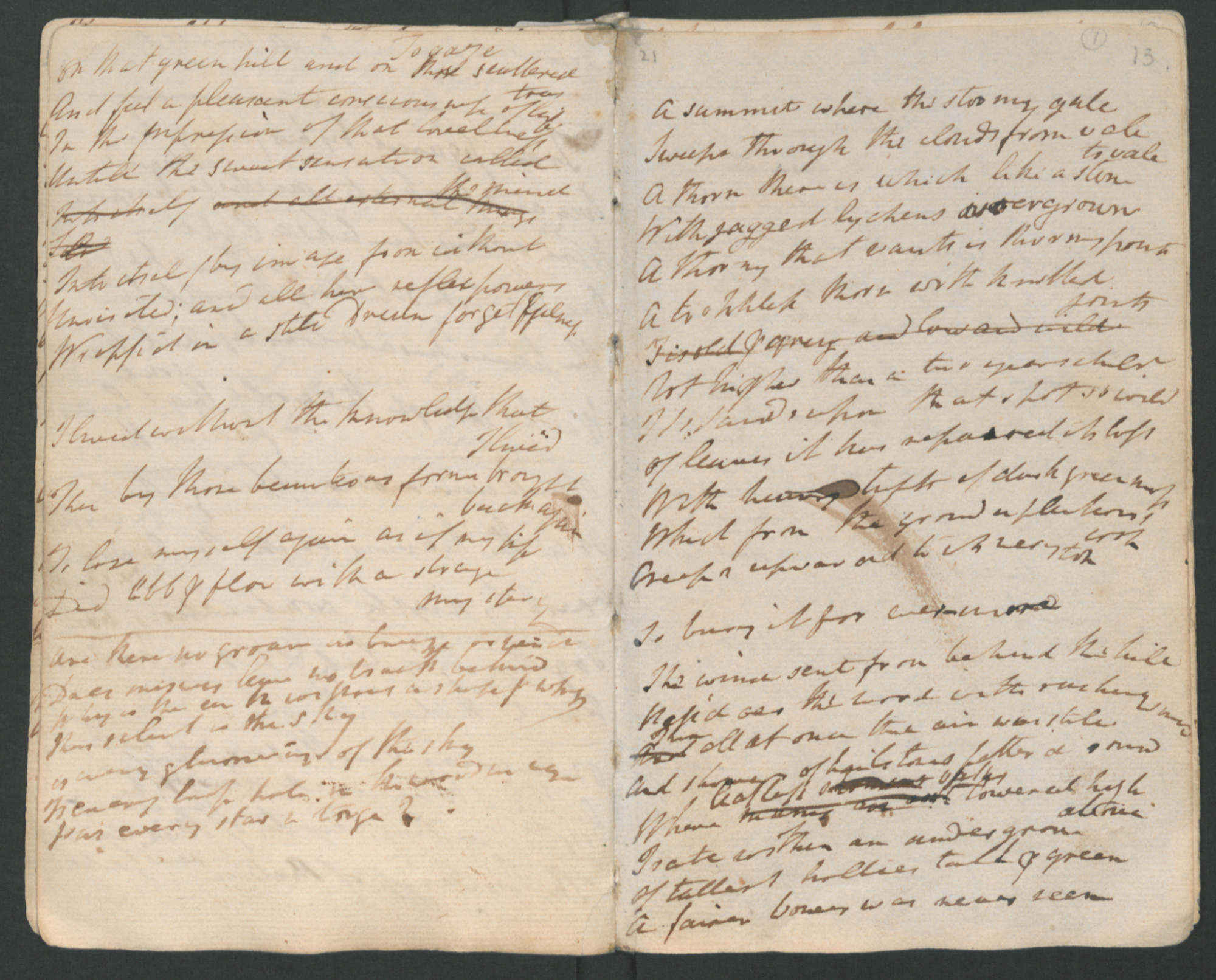 Manuscript of William Wordsworth's 'The Thorn'